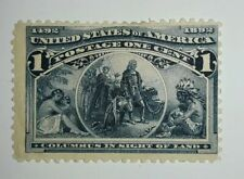 Travelstamps:1893 Us Stamps Scott #s 230,The Columbians mint , hinged, og , thin