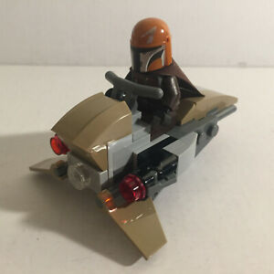 Authentic Lego Star Wars Mandalorian Lego Minifigure with Speeder Bike