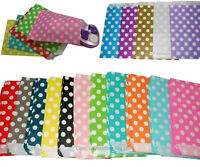 Small Paper Gift Bags x 24 Polka Dot For Loot Candy Buffet Wedding Party Favours