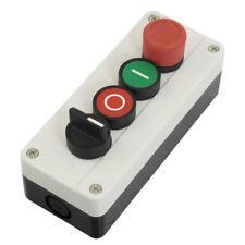 Emergency Stop Momentary 2 NO 2-Position Selector Red Green Push Button Switch