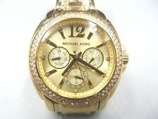 NEW OLD STOCK MICHAEL KORS DAYDATE GOLD PLATED MK5691 QUARTZ WOMEN WATCH