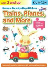 Kumon Step-By-Step Stickers : Trains, Planes, and More (2014, Paperback) NEW