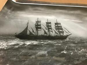 A. Aubrey Bodine Signed Photo Tall Ship Foz Do Douro 1943