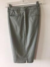 Chico's Cotton Stretch Walk Shorts Flat Front Celery Women's Size 0