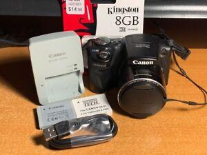 Canon PowerShot SX500 IS 16.0MP Digital Camera - Black + SD Card