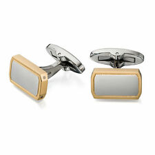 Fred Bennett Stainless Steel and Gold Plated Cufflinks V512
