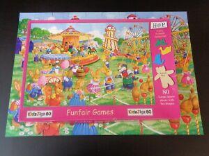 HOP HOUSE OF PUZZLES FUNFAIR GAMES KIDZJIGZ 80 PIECE JIGSAW PUZZLE