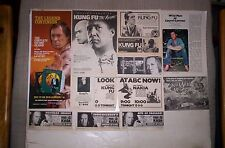 David Carradine 23 TV Guide Ads KUNG FU,etc.