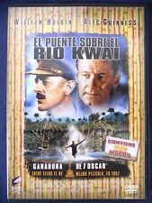 DVD 2 DISCOS El Puente sobre el rio Kwai,William Holden,Alec Guinnes