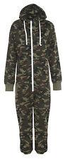 Mens Ladies Kids Military 1Onesie Unisex Camouflage Body Jumpsuit Army Hood