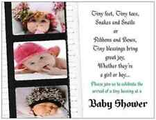 100 PERSONALIZED Your PICTURE & WORDS BABY  Bridal Shower INVITATIONS Post CARDS