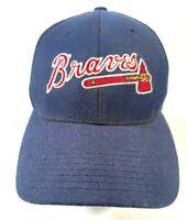 MLB Atlanta Braves Baseball Hat Cap One Size Fits All Blue Red Strapback Sports