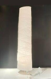 "Ikea VICKLEBY Floor Lamp Handmade Rice Paper White 54"" - NEW"