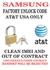 AT&T USA SAMSUNG GALAXY S3 S4 S5 S6 PLUS NOTE 5 UNLOCK CODE NO CONTRACT ONLY