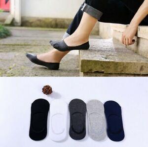 5 Pairs men Invisible Trainer Liner Socks No Show Footsies Non-slip