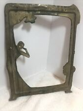 Solid Brass Bronze Art Deco Nude Lady Picture Frame Art Nouveau Vintage