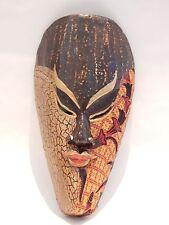 "Wooden African Mask Tiki Mask Tribal Bali Wall Decor Art Mask 10"" #N0224"