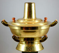 Vintage Brass Made In Hong Kong Cocktail Brazier 1960s  4 Pieces