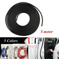 5M/16FT Rubber Strip Car Door Edge Scratch Protector Cover Trim Decoration Guard