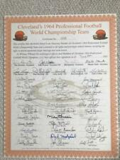CLEVELAND BROWNS 1964 CHAMPIONSHIP TEAM SIGNED STOCK CERT   42 SIGNED  JIM BROWN