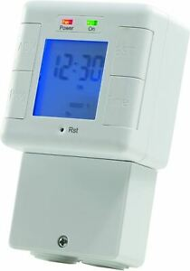 Masterplug Digital Immersion Heater and Lighting Timer with Power Indicator
