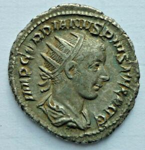 Pièce de Monnaie, Romain Antoninianus 240-243, Gordien III, Argent (Art.4248)
