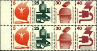 BRD (BR.Deutschland) Hbl24 postfrisch 1973 Unfallverhütung