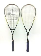 Two Vintage Black Knight Shox 80 Brain Weave Reflex Fibre Rf-89 Squash Rackets