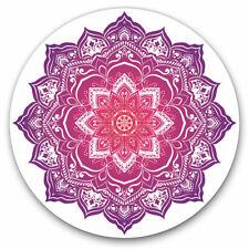 More details for 2 x vinyl stickers 20cm - indian mandala boho yoga  cool gift #19360