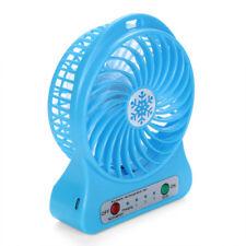 Portable Rechargeable LED Light Fan Air Cooler Mini Desk USB 18650 Battery Fan