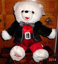 "2014 WalMART CHRISTMAS Snowflake TEDDY BEAR White Boy 20"" Red/Black Outfit NWT."