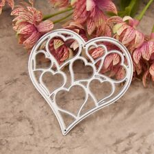 Love Heart Cutting Dies Stencil DIY Scrapbooking Album Paper Embossing Crafts