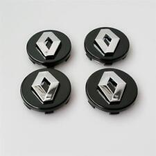 4pcs Set Renault 57mm  3D Wheel Center Caps Black Megane Laguna Clio Twingo