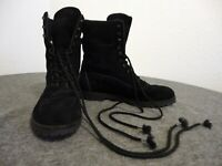 TECNICA COUNTRY BOOTS - WOMENS - BLACK SUEDE -MADE IN ITALY - SIZE 41/22