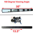 Vintage Wink Style 35 inch Wide Angle 5 Panel Rear View Mirror