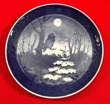 Royal Copenhagen Christmas Collector Plate, 1974, Winter Twilight - Free Shippng