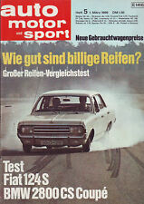 auto motor sport ams 5/69 BMW 2800 CS Cpe´/Alfa Giulia Super/Fiat 124 S/1.3.1969