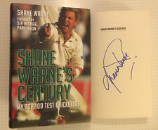 Hand Signed book SHANE WARNE - Century - THE ASHES -  Cricket Legend + my COA