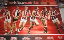 St.Kilda FC - 6 player poster - signed by N.Riewoldt, L.Hayes, R.Harvey ++(2103)