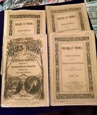 Lot 4 Hours at Home Periodical Magazine 1865 FREE SHIP Literature Religious