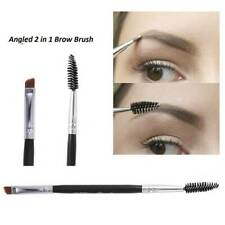 Double Ended Eyebrow Brush with Spoolie Professional Angled Eye Brow Brushes