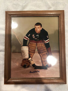 Autographed, framed photo of Gump Worsley