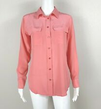 EQUIPMENT Femme Signature Silk Shirt Blouse Pink Size S Small - NTSF