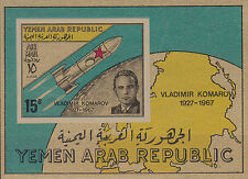 YAR / North Yemen Nr. Bl. 66** (716**)** Kosmonaut Komarov (1927-1967)