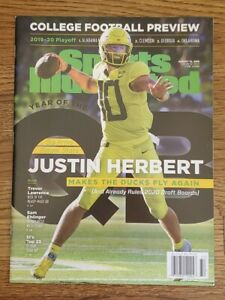 🏈 2019 JUSTIN HERBERT  Sports Illustrated NEWSSTAND -Ready for CGC grading