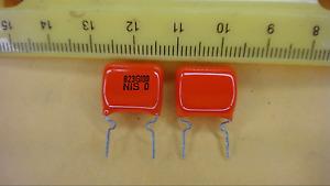 NISSEI 823G100 Through Hole Orange Drop Capacitor New Lot Quantity-25