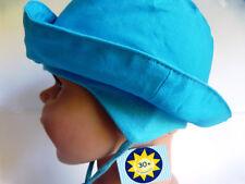 UVSchutz KU40 41 42 43 44 45 46 47 48 49 50 Ohrenschutz Hut Mütze BABY Kind blau