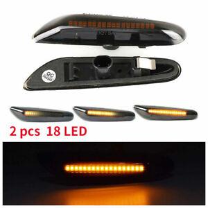 2Pcs Dynamic LED Side Indicator Turn Signal Light For BMW E90 E91 E92 E60 E82