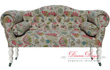 Gorgeous Bespoke Vibrant Coloured Floral Double Ended Chaise Sofa  **UK Made**