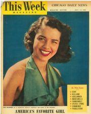 This Week Magazine July 22 1951 Indro Montanelli Amy Vanderbilt Sylvia Lyons